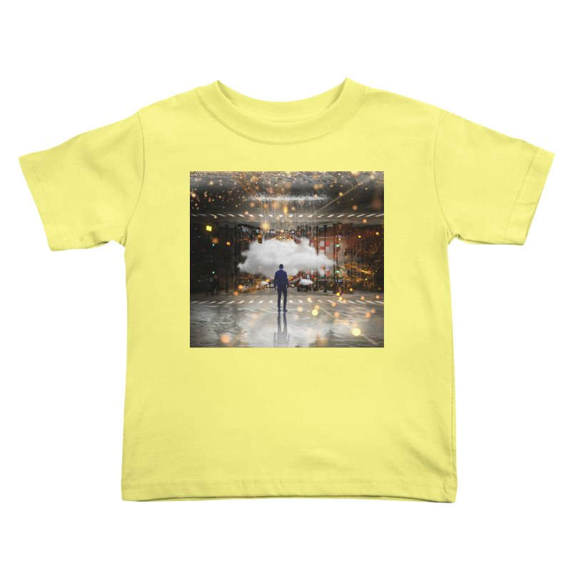 Raining on the Streets Kids Toddler T-Shirt by Vin Zzep's Artist Shop
