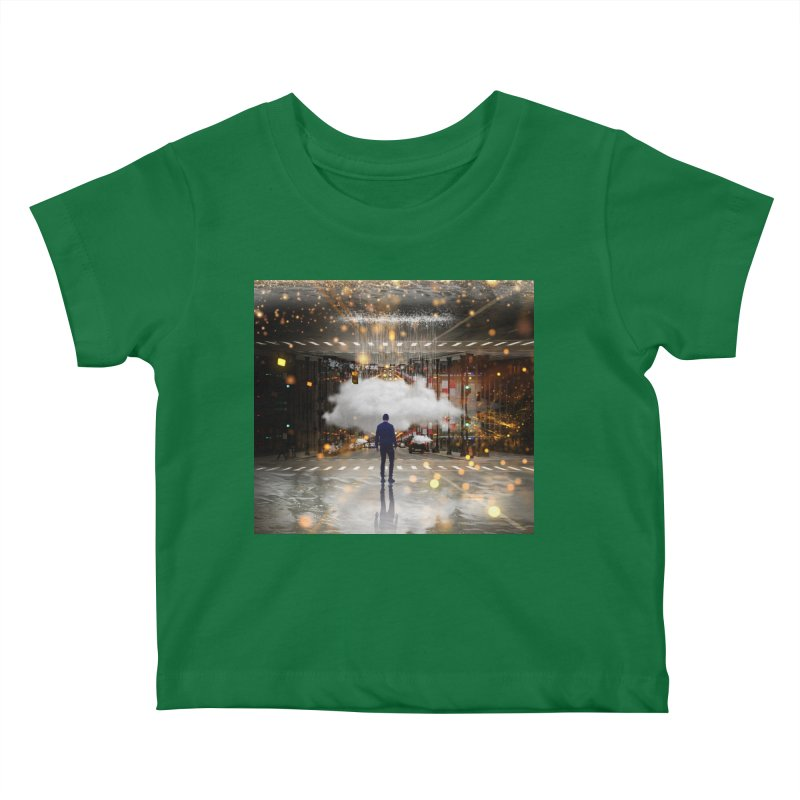 Raining on the Streets Kids Baby T-Shirt by Vin Zzep's Artist Shop