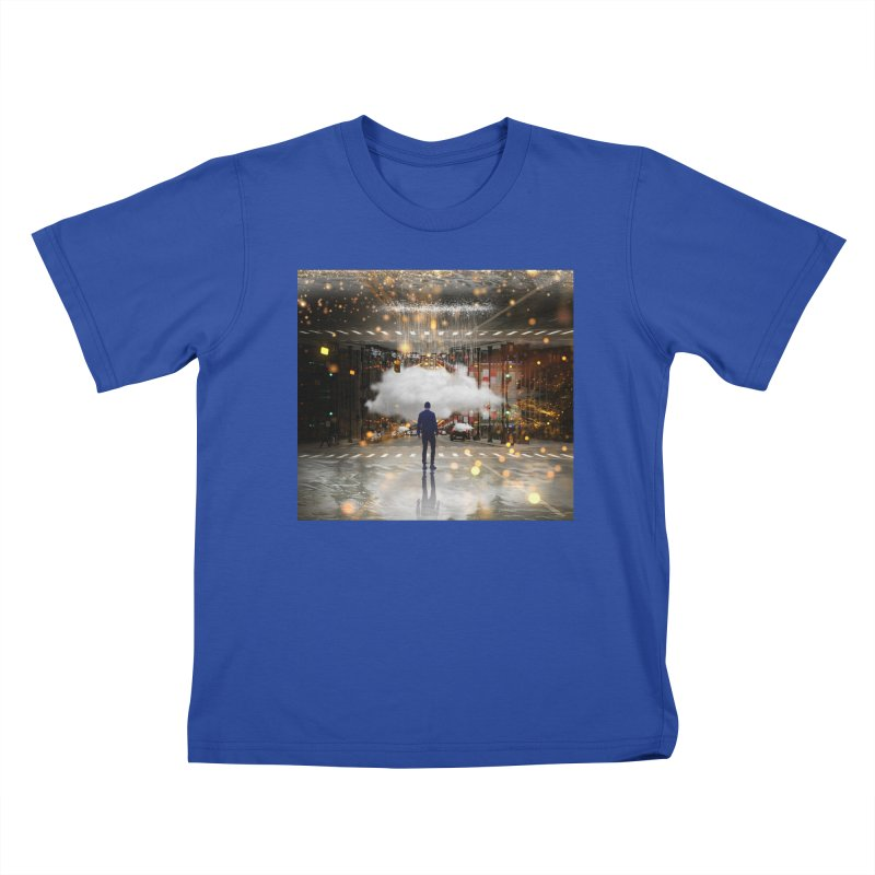 Raining on the Streets Kids T-Shirt by Vin Zzep's Artist Shop
