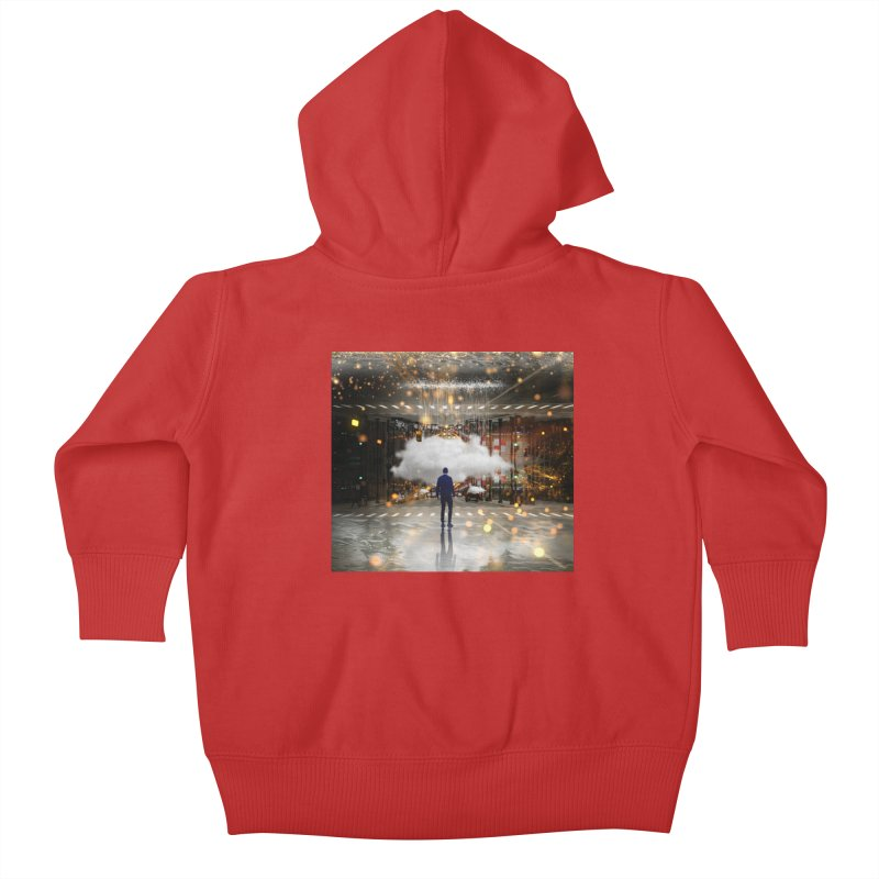 Raining on the Streets Kids Baby Zip-Up Hoody by Vin Zzep's Artist Shop
