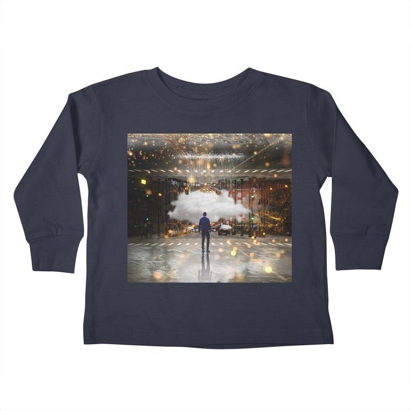 Raining on the Streets Kids Toddler Longsleeve T-Shirt by Vin Zzep's Artist Shop