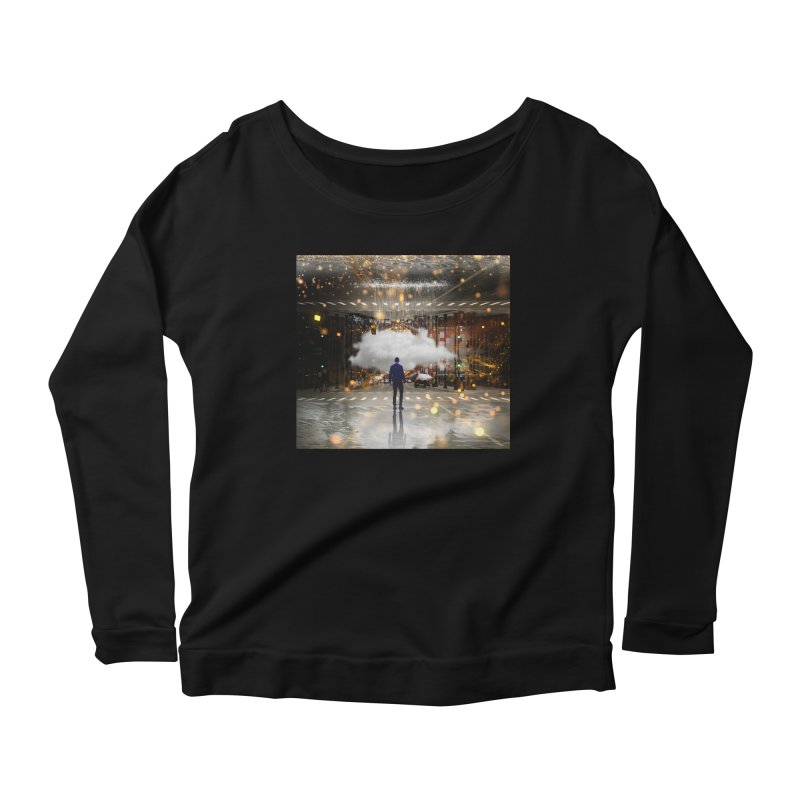 Raining on the Streets Women's Scoop Neck Longsleeve T-Shirt by Vin Zzep's Artist Shop