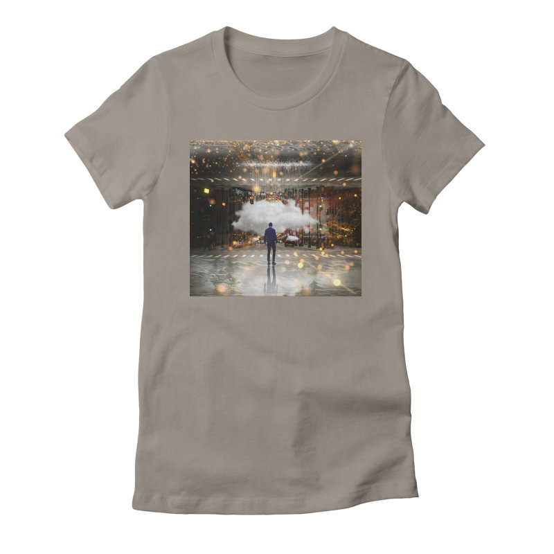 Raining on the Streets Women's Fitted T-Shirt by Vin Zzep's Artist Shop