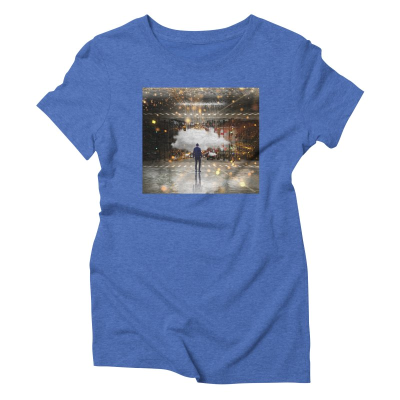Raining on the Streets Women's Triblend T-Shirt by Vin Zzep's Artist Shop