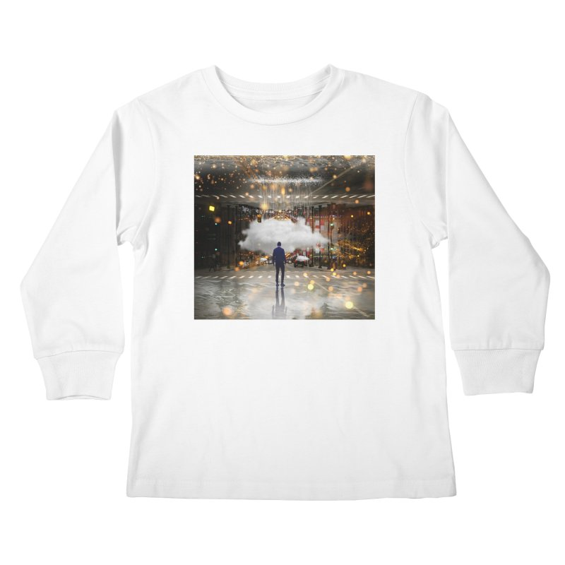 Raining on the Streets Kids Longsleeve T-Shirt by Vin Zzep's Artist Shop