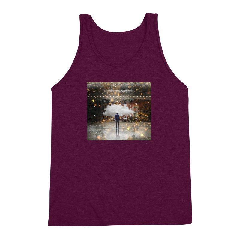 Raining on the Streets Men's Triblend Tank by Vin Zzep's Artist Shop