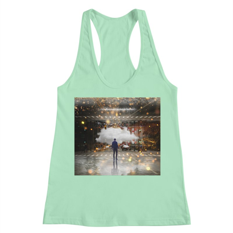 Raining on the Streets Women's Racerback Tank by Vin Zzep's Artist Shop