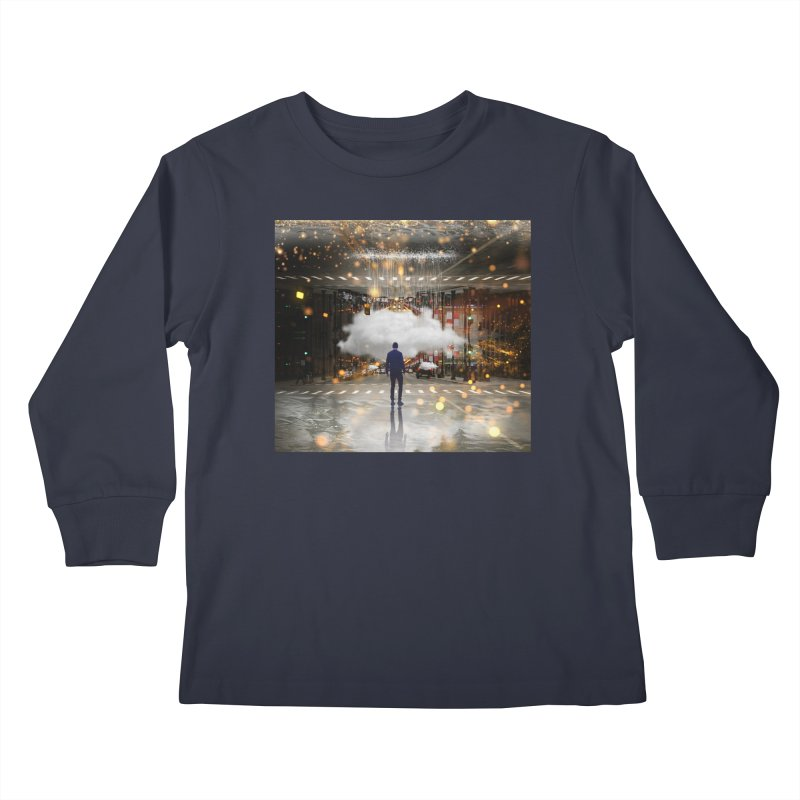 Raining on the Streets Kids Longsleeve T-Shirt by Vin Zzep's Artist Shop