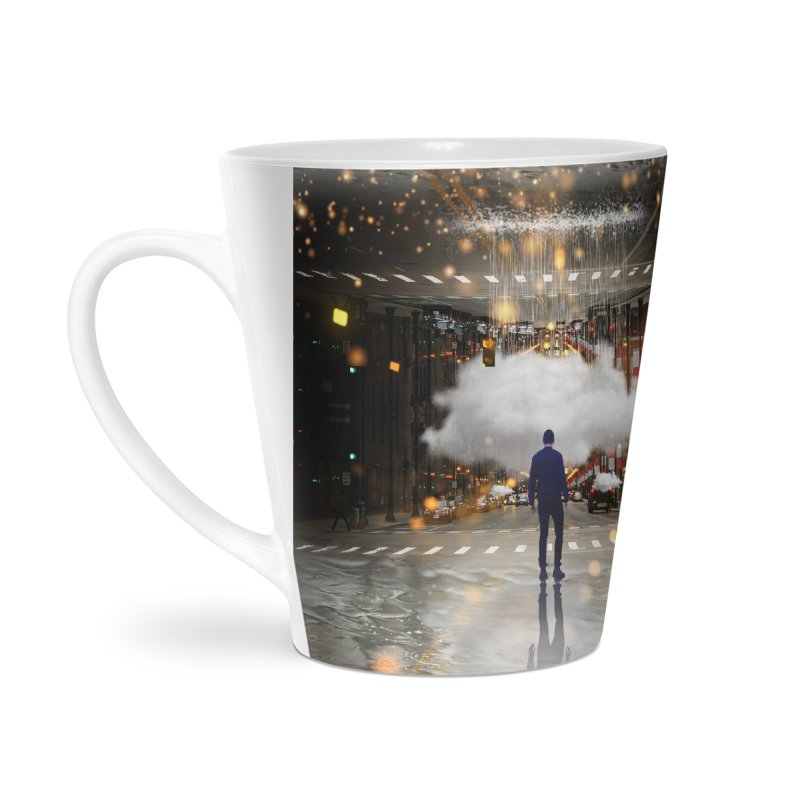 Raining on the Streets Accessories Latte Mug by Vin Zzep's Artist Shop