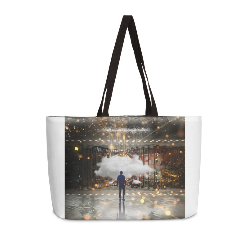 Raining on the Streets Accessories Weekender Bag Bag by Vin Zzep's Artist Shop