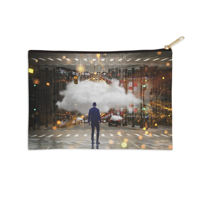 Raining on the Streets Accessories Zip Pouch by Vin Zzep's Artist Shop