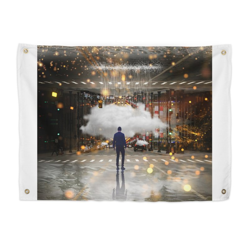 Raining on the Streets Home Tapestry by Vin Zzep's Artist Shop