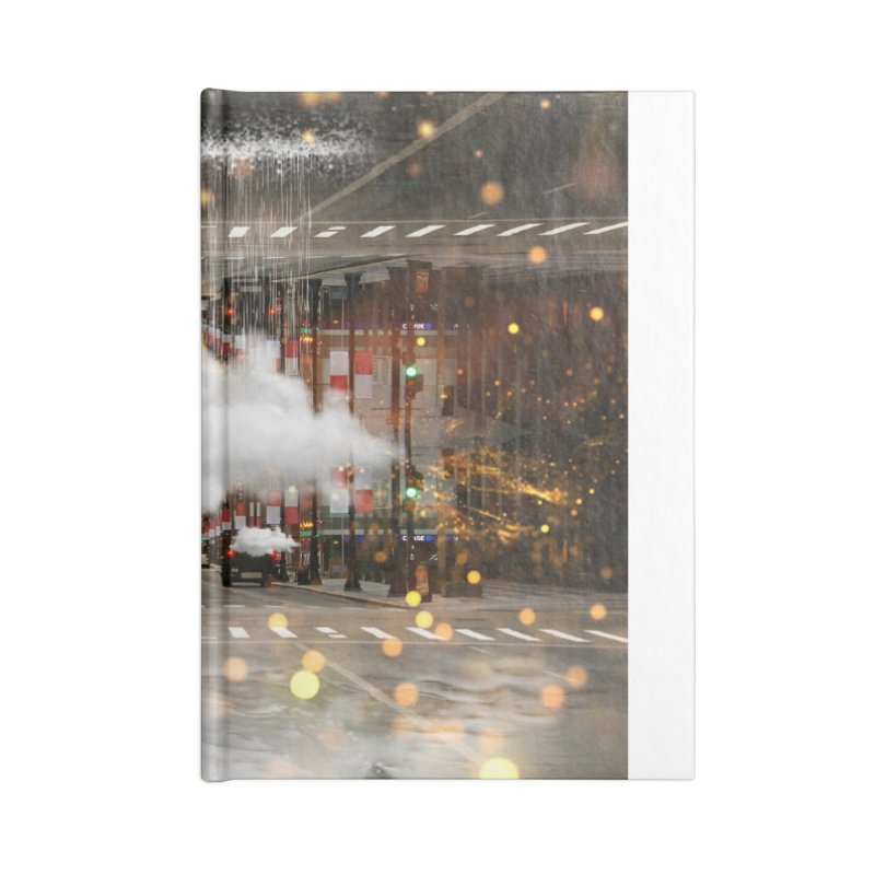 Raining on the Streets Accessories Lined Journal Notebook by Vin Zzep's Artist Shop