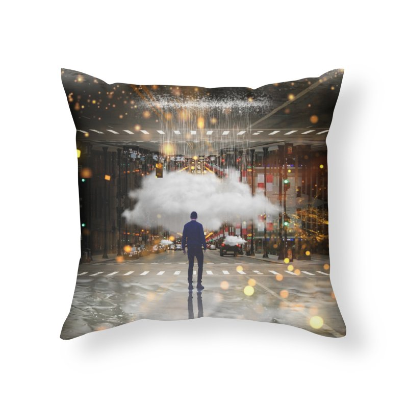 Raining on the Streets Home Throw Pillow by Vin Zzep's Artist Shop
