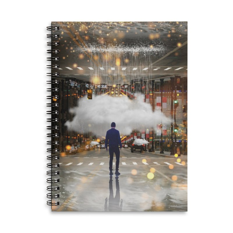Raining on the Streets Accessories Notebook by Vin Zzep's Artist Shop