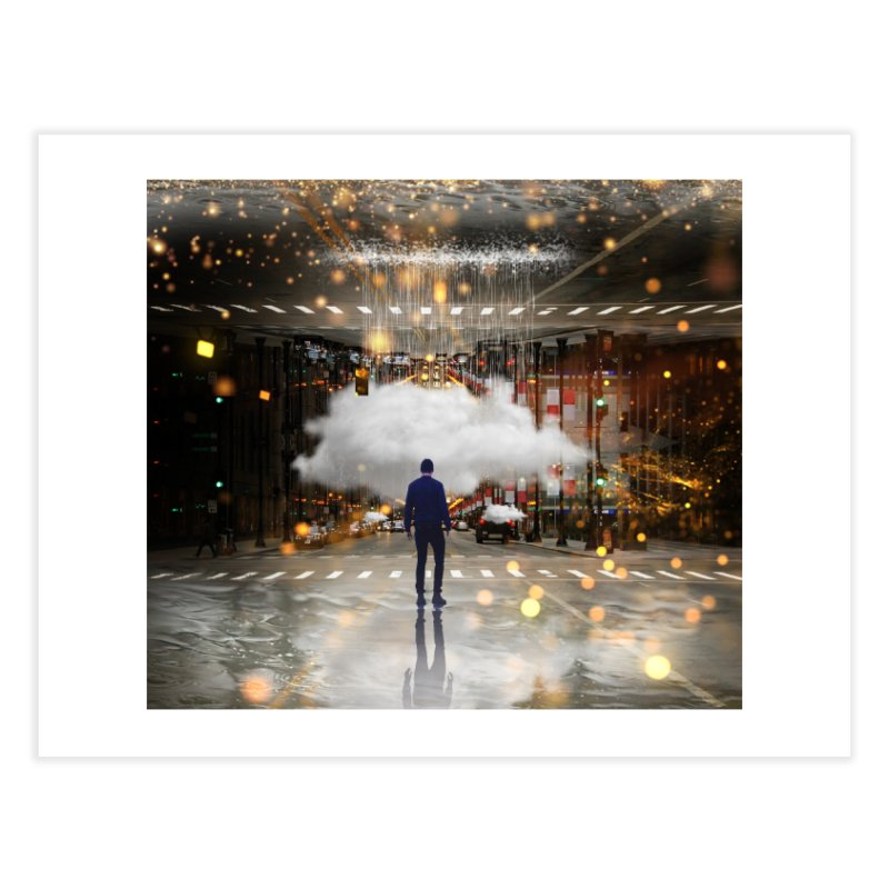 Raining on the Streets Home Fine Art Print by Vin Zzep's Artist Shop