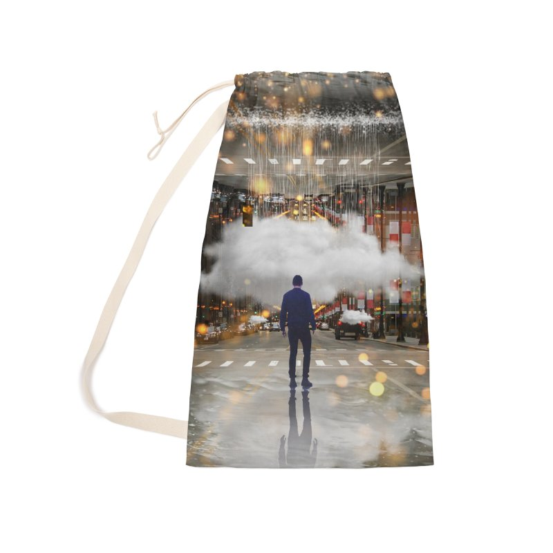 Raining on the Streets Accessories Laundry Bag Bag by Vin Zzep's Artist Shop