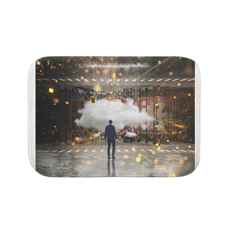 Raining on the Streets Home Bath Mat by Vin Zzep's Artist Shop
