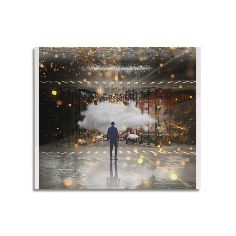 Raining on the Streets Home Mounted Acrylic Print by Vin Zzep's Artist Shop