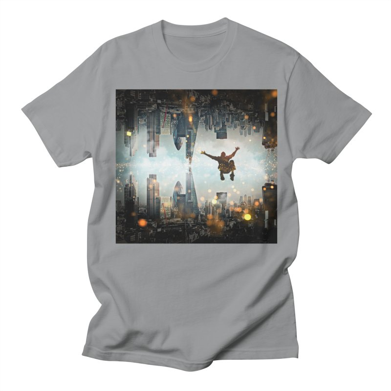 London Falling Men's Regular T-Shirt by Vin Zzep's Artist Shop