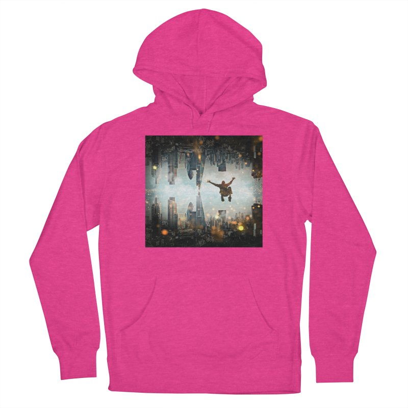 London Falling Men's French Terry Pullover Hoody by Vin Zzep's Artist Shop