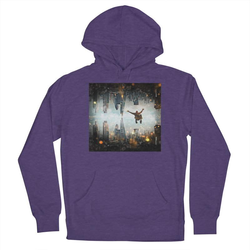 London Falling Women's French Terry Pullover Hoody by Vin Zzep's Artist Shop