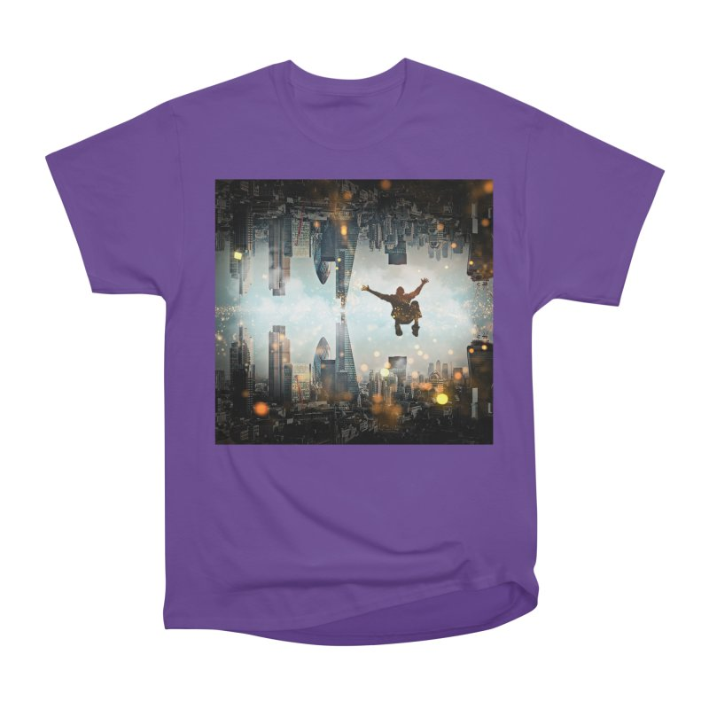 London Falling Men's Heavyweight T-Shirt by Vin Zzep's Artist Shop