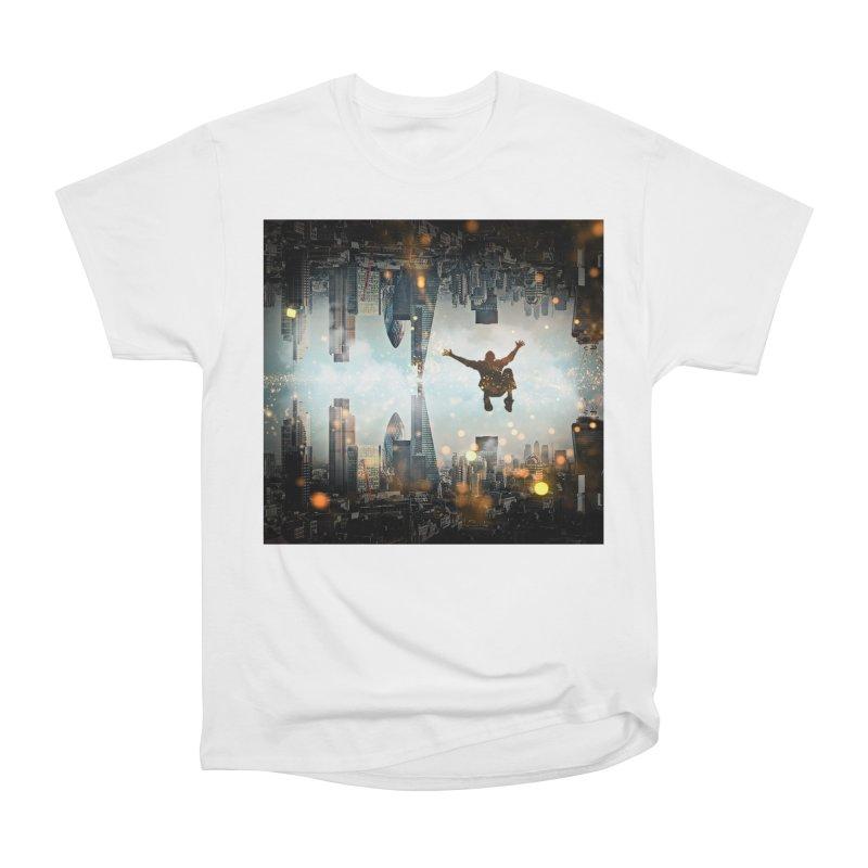 London Falling Women's Heavyweight Unisex T-Shirt by Vin Zzep's Artist Shop