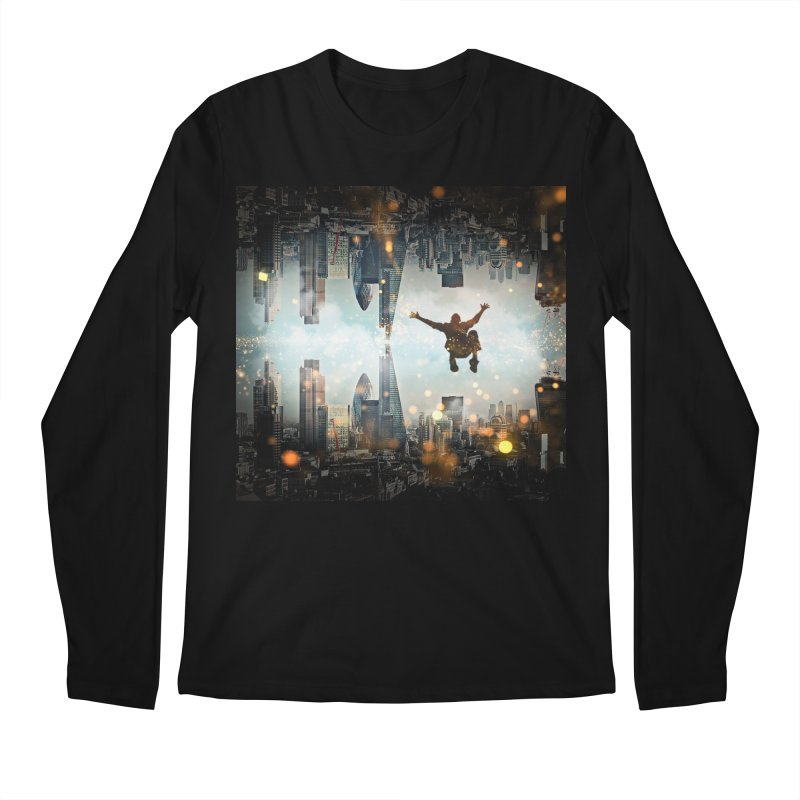 London Falling Men's Regular Longsleeve T-Shirt by Vin Zzep's Artist Shop