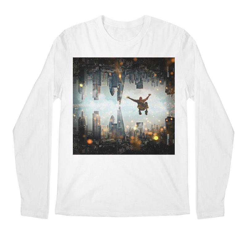London Falling Men's Regular Longsleeve T-Shirt by Vin Zzep's Artist Shop