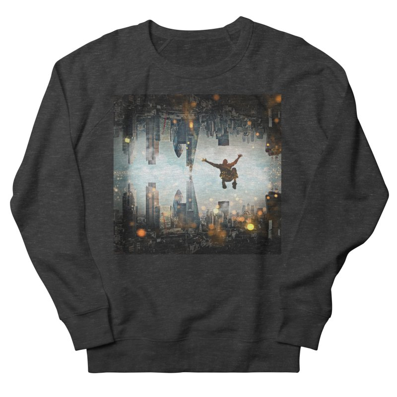 London Falling Women's French Terry Sweatshirt by Vin Zzep's Artist Shop