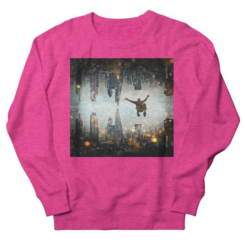 London Falling Women's French Terry Sweatshirt by Vin Zzep's Artist Shop