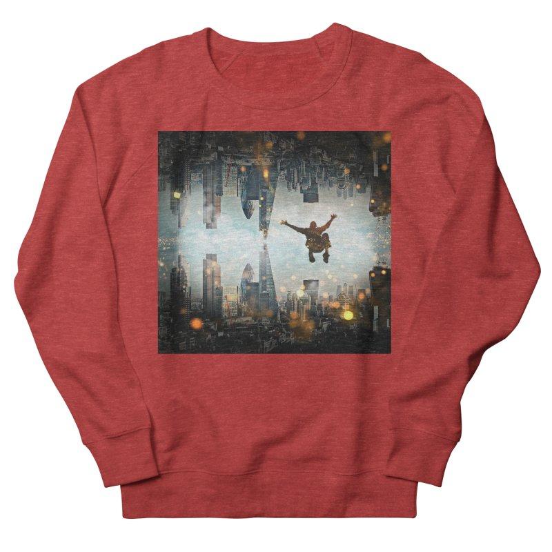 London Falling Men's French Terry Sweatshirt by Vin Zzep's Artist Shop