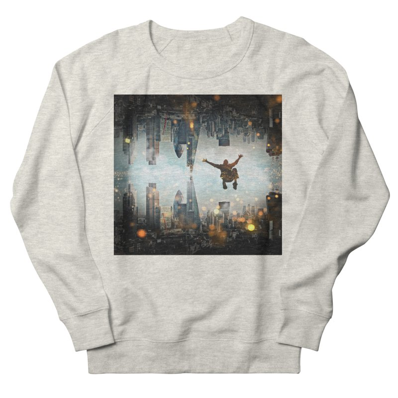 London Falling Men's French Terry Sweatshirt by Vin Zzep's Artist Shop