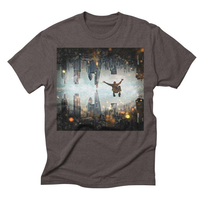 London Falling Men's Triblend T-Shirt by Vin Zzep's Artist Shop