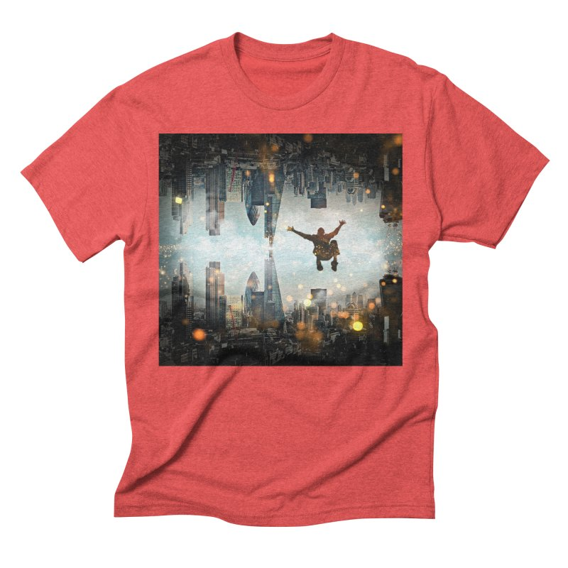 London Falling Men's Triblend T-Shirt by Vin Zzep's Artist Shop