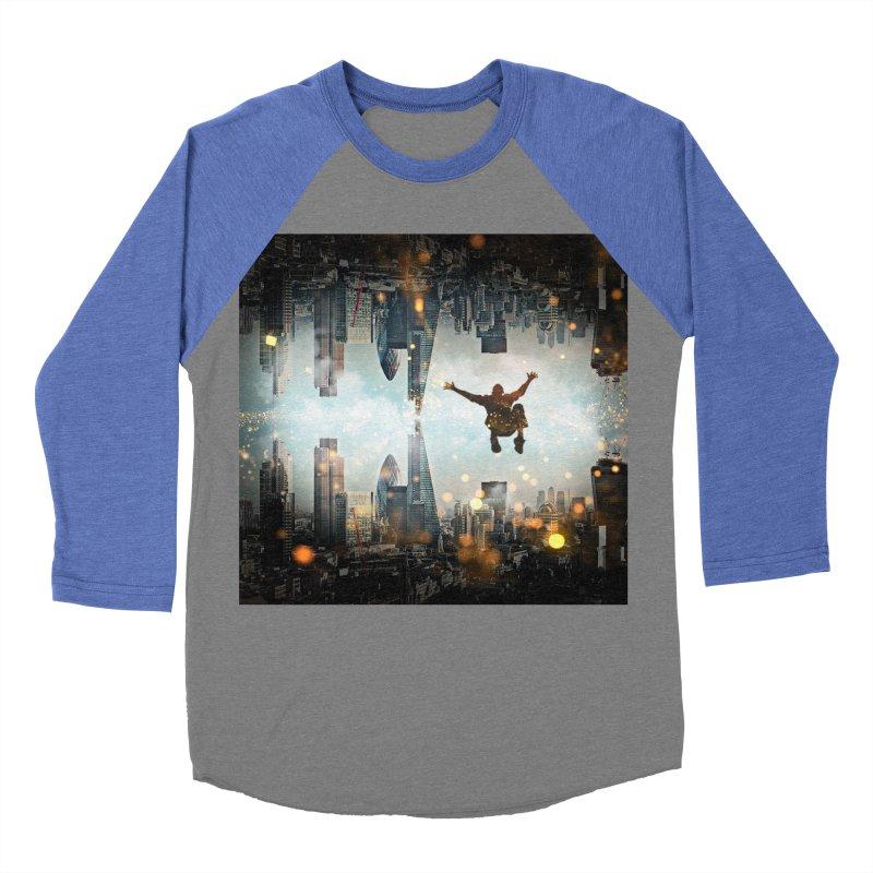 London Falling Men's Baseball Triblend Longsleeve T-Shirt by Vin Zzep's Artist Shop