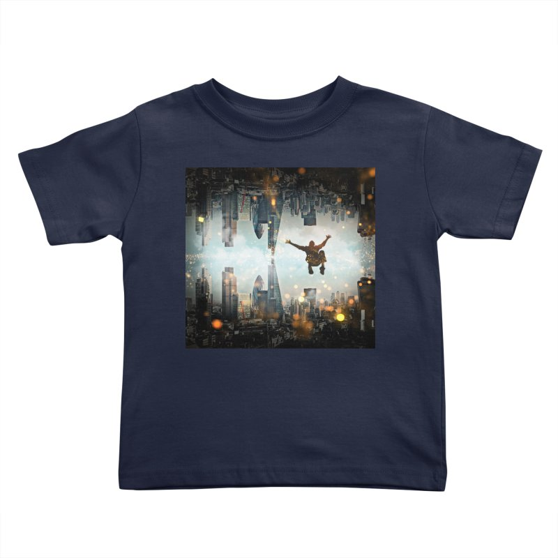 London Falling Kids Toddler T-Shirt by Vin Zzep's Artist Shop