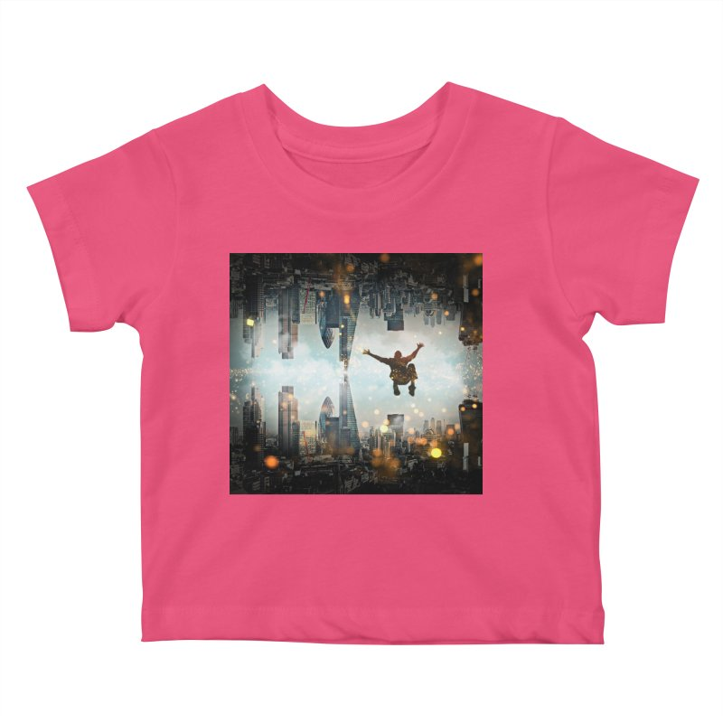 London Falling Kids Baby T-Shirt by Vin Zzep's Artist Shop