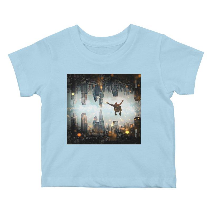 London Falling Kids Baby T-Shirt by Vin Zzep's Artist Shop