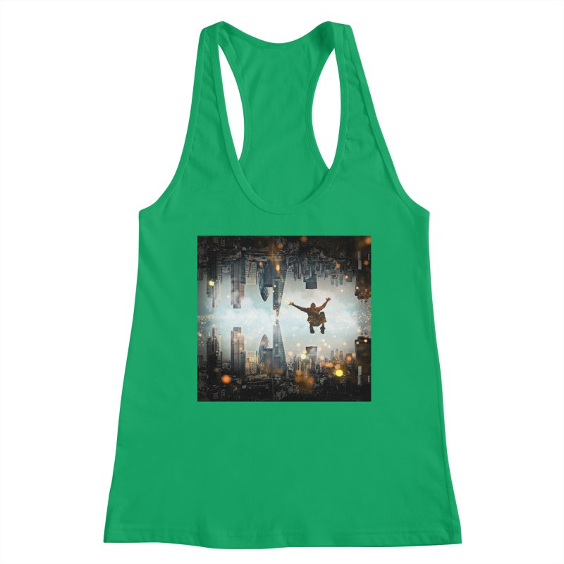 London Falling Women's Tank by Vin Zzep's Artist Shop