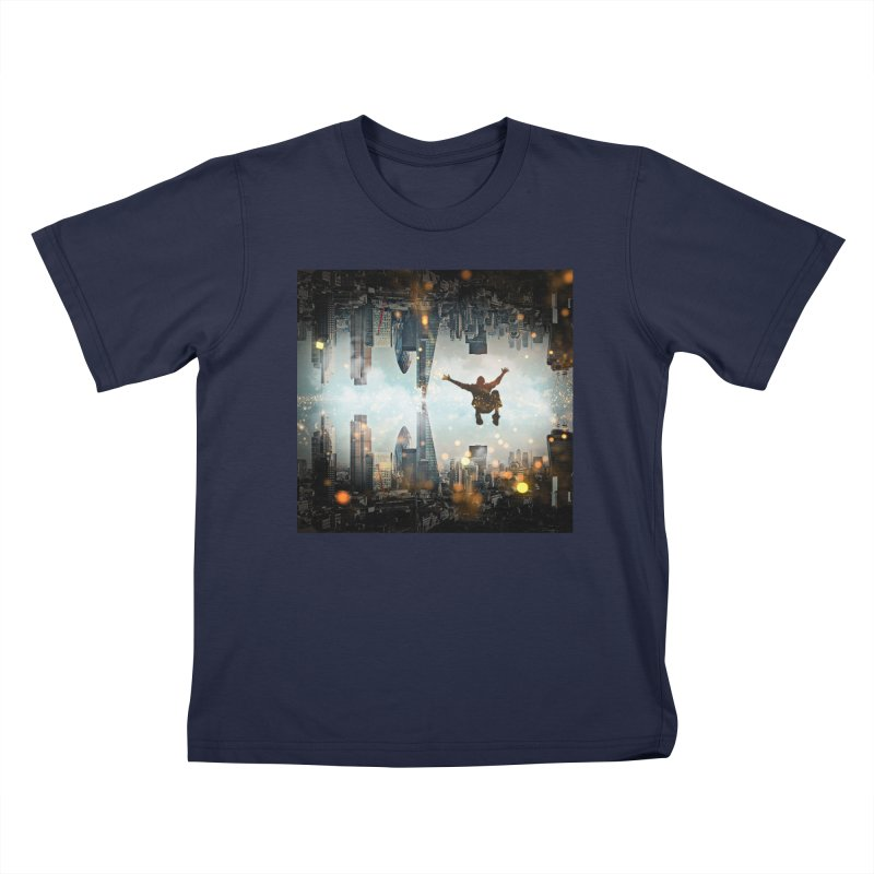 London Falling Kids T-Shirt by Vin Zzep's Artist Shop