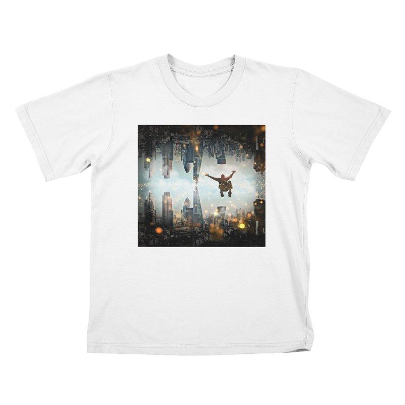 London Falling Kids T-Shirt by Vin Zzep's Artist Shop