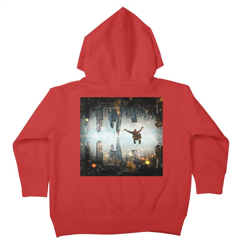 London Falling Kids Toddler Zip-Up Hoody by Vin Zzep's Artist Shop