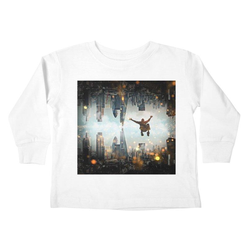 London Falling Kids Toddler Longsleeve T-Shirt by Vin Zzep's Artist Shop