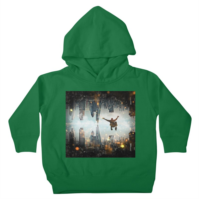 London Falling Kids Toddler Pullover Hoody by Vin Zzep's Artist Shop