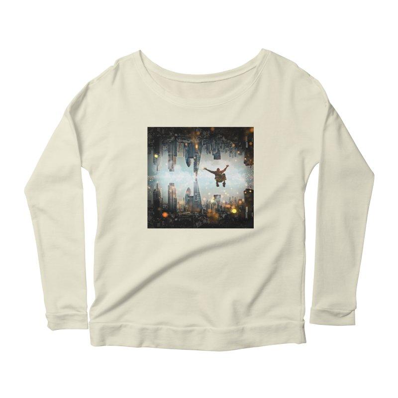 London Falling Women's Scoop Neck Longsleeve T-Shirt by Vin Zzep's Artist Shop