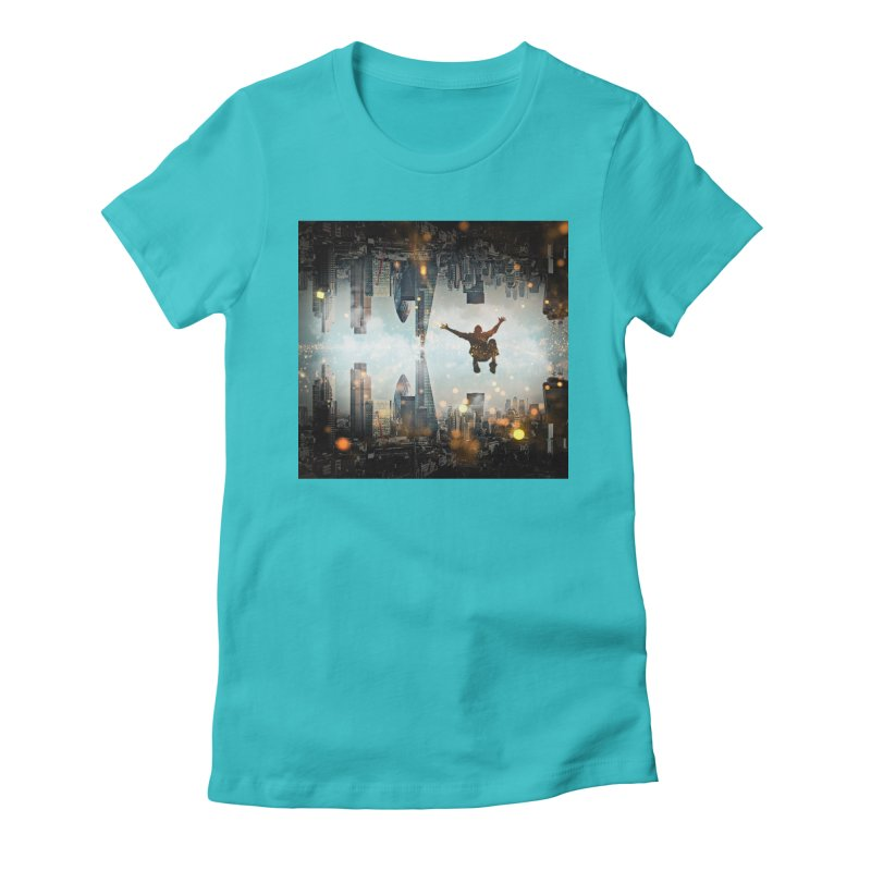 London Falling Women's T-Shirt by Vin Zzep's Artist Shop