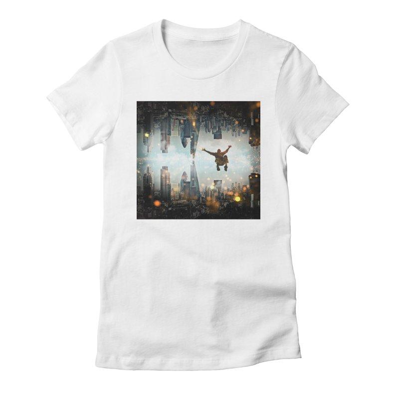 London Falling Women's Fitted T-Shirt by Vin Zzep's Artist Shop