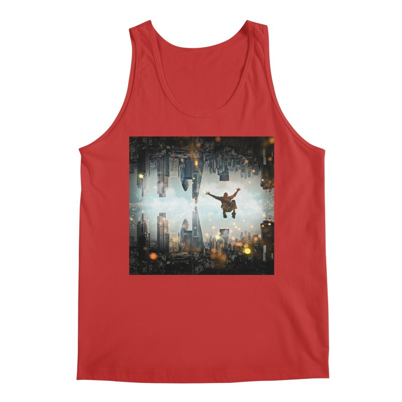 London Falling Men's Regular Tank by Vin Zzep's Artist Shop